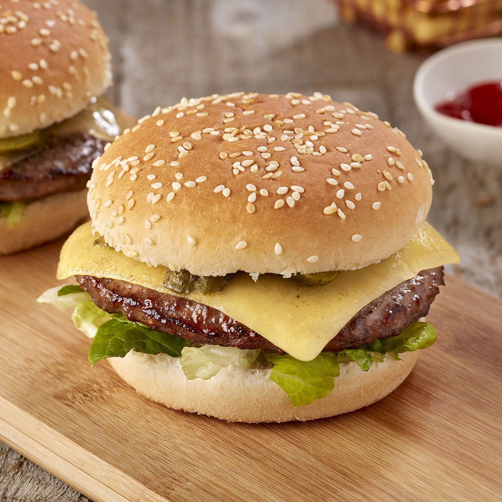halal burger with cheese